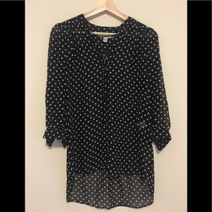 LC Lauren Conrad Sheer Blouse